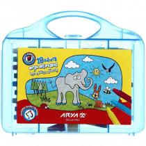پاستل روغنی 18 رنگ آریا طرح فیل و خرگوش کد 2030