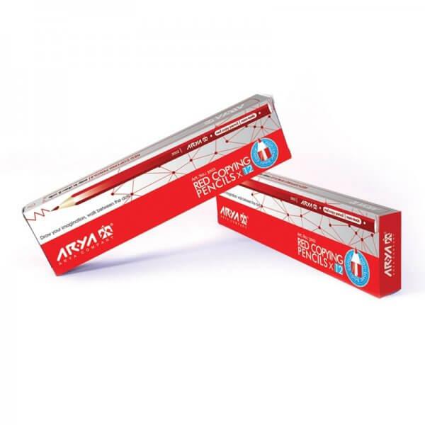 مداد قرمز آریا کد 3002 بسته 12 عددی
